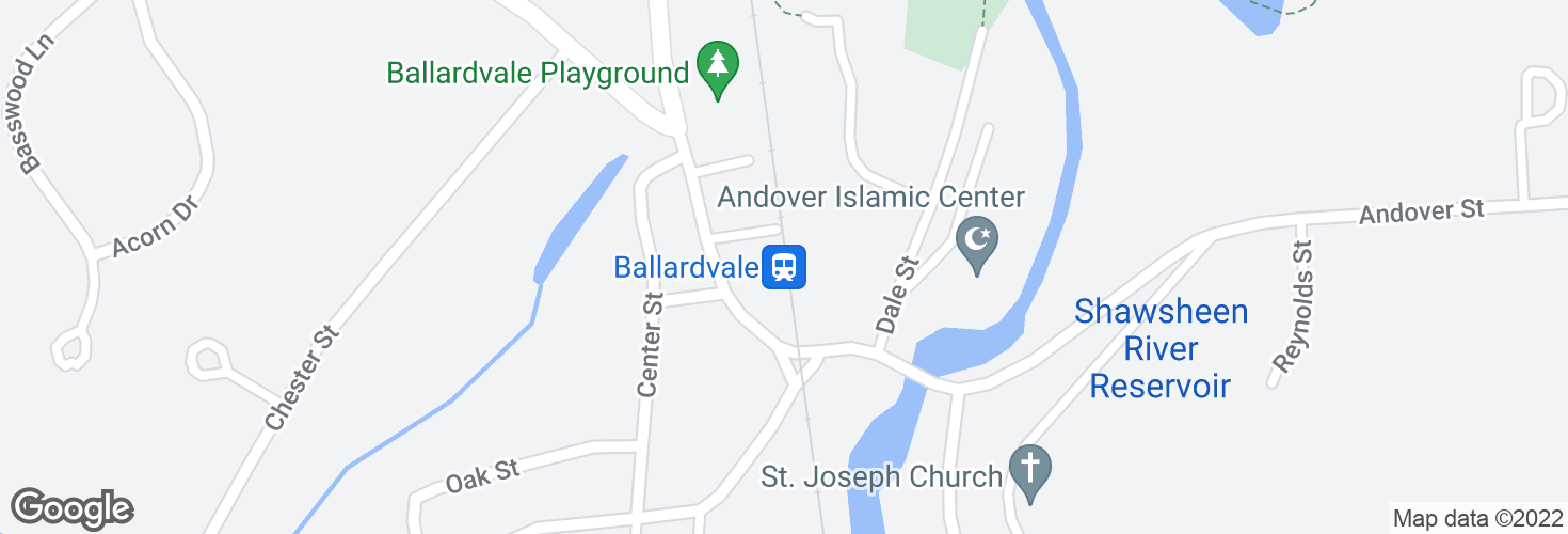 Map of Ballardvale and surrounding area