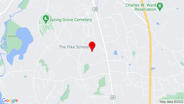 Google Map of 34 Sunset Rock Road, Andover, MA 01810