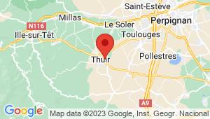 Carte de localisation du centre de contrôle technique THUIR
