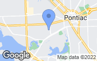 Map of Pontiac, MI