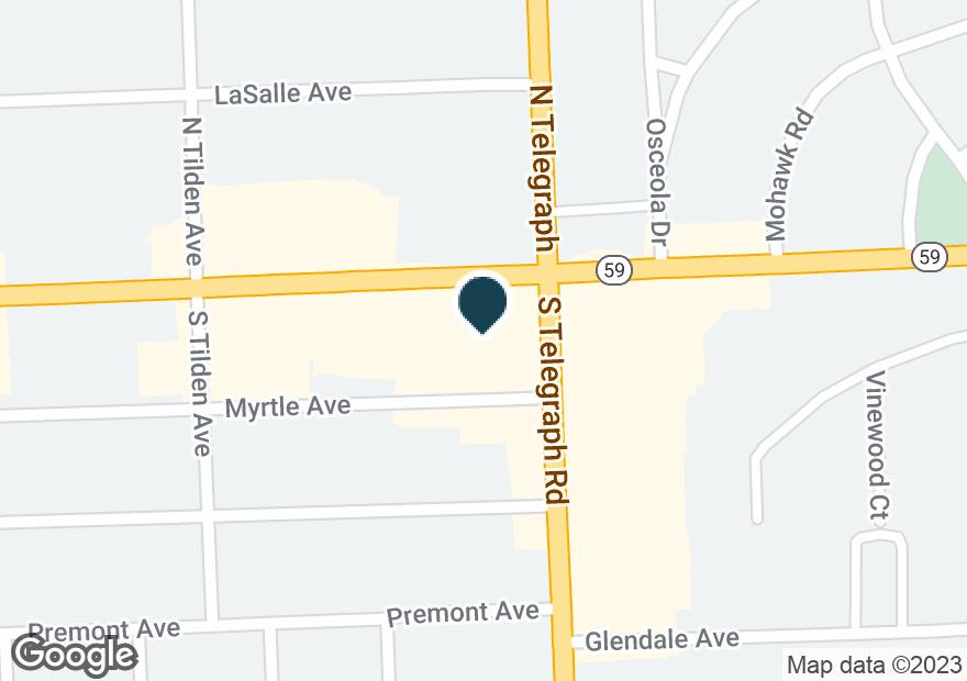 Google Map of20 S TELEGRAPH RD