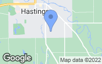 Map of Hastings, MI