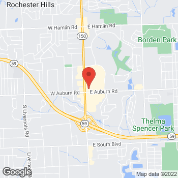 Map of Panera Bread at 2921 South Rochester Road, Rochester Hills, MI 48307