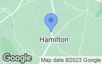 Map of South Hamilton, MA
