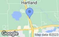 Map of Hartland, MI