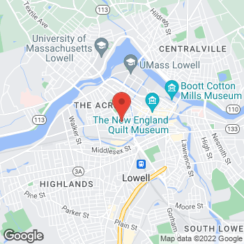 Map of Rite Aid at 276 Broadway St, Lowell, MA 01854