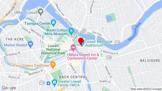 Google Map of 50 East Merrimack Street, Lowell, MA 01852