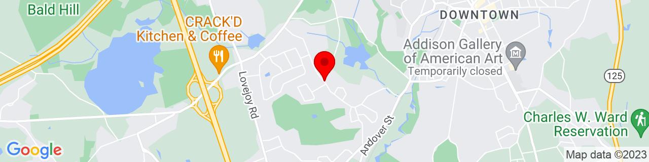 Google Map of 42.6475429, -71.1658514