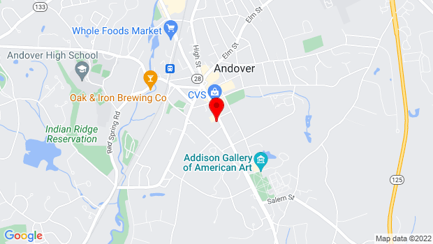 Google Map of 97 Main Street, Andover, MA 01810