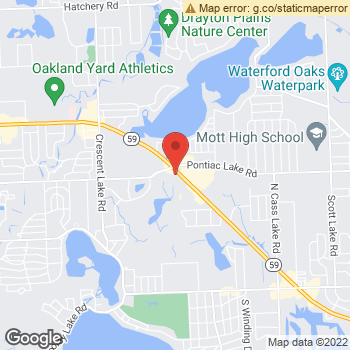 Map of Dr. Bradley Goldberg, Optometrist, and Associates - of Waterford at 4363 Highland Road, Waterford, MI 48328