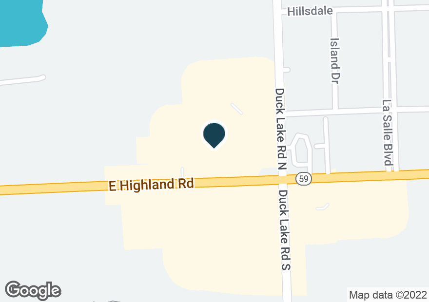 Google Map of2821 E HIGHLAND RD