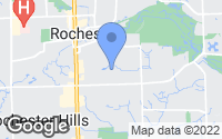 Map of Rochester Hills, MI