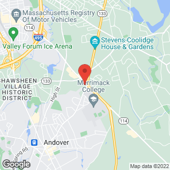 Map of Kathleen O'Keefe, DPM at 451 Andover Streetsuite 209, North Andover, MA 01845
