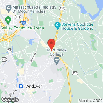 Map of Christine Dalrymple, DPM at 451 Andover Streetsuite 209, North Andover, MA 01845