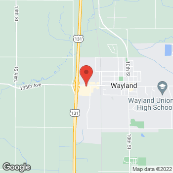 Map of Taco Bell at 1158 W. Superior Street, Wayland, MI 49348