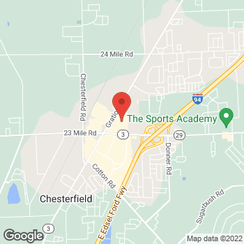 Map of Staples at 51382 Gratiot Ave, Chesterfield, MI 48051