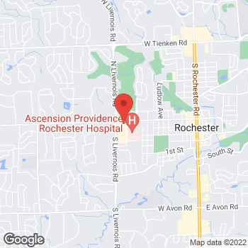 Map of Panera Bread at 37 South Livernois Road, Rochester Hills, MI 48309