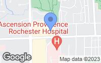 Map of Rochester Hills, MI