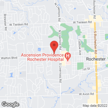 Map of Rite Aid at 1378 Walton Boulevard, Rochester Hills, MI 48309