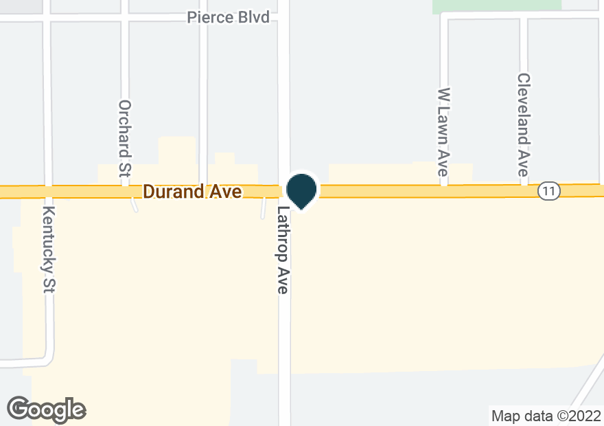 Google Map of3825 DURAND AVE