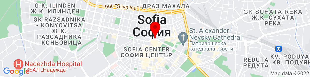 Google Map of 42.6976983, 23.3229756