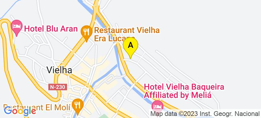 situacion en el mapa de . Direccion: Av. Maladeta, 7, 25530 Vielha e Mijaran. Lleida