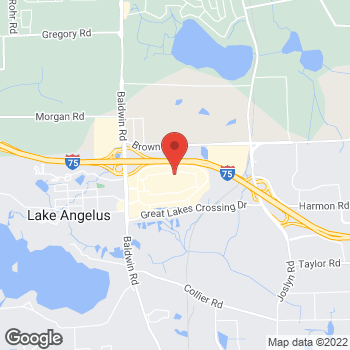 Map of Bass Pro Shops at 4500 Baldwin Rd, Auburn Hills, MI 48326