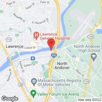Map of Emily Liu, MD at 500 Merrimack Street, Lawrence, MA 01843