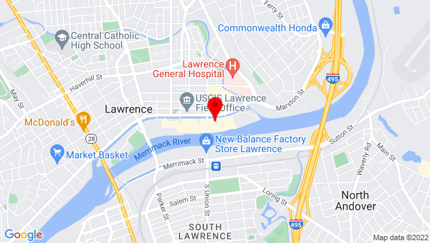 Google Map of 56 Island St, Lawrence, MA 01840