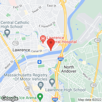 Map of Karen Hunt, MD at 25 Marston Streetsuite 304, Lawrence, MA 01841