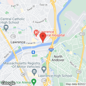 Map of Paul Arrigg, MD at 25 Marston Street, Lawrence, MA 01841