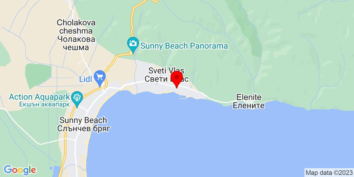 Google Map of 42.70991846774117, 27.764722099333273