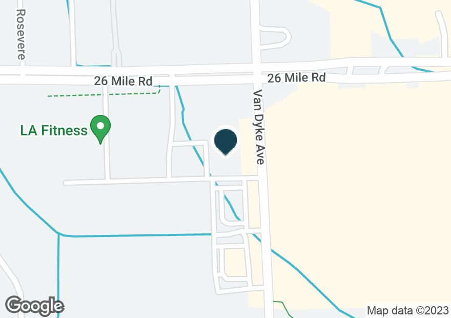 Google Map of56805 VAN DYKE AVE