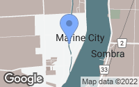 Map of Marine City, MI