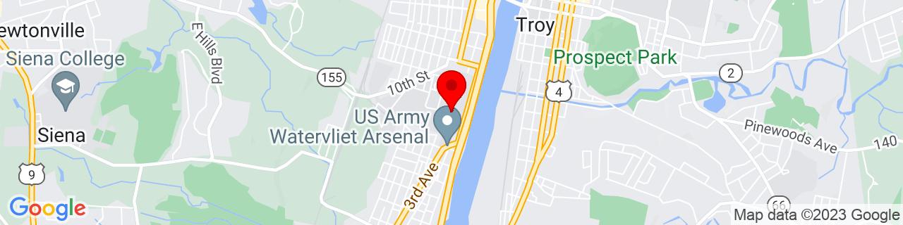 Google Map of 42.7187799, -73.7043419