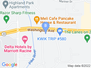 Map of Angelcare Animal Hospital & Pet Resort Dog Boarding options in Racine | Boarding