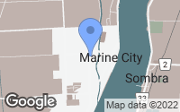 Map of Marine City, MI