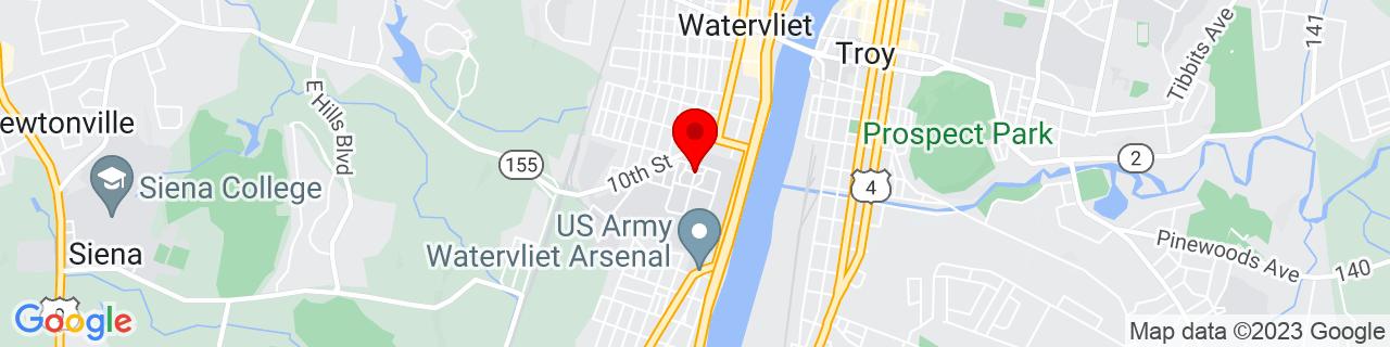 Google Map of 42.72142400000001, -73.705202