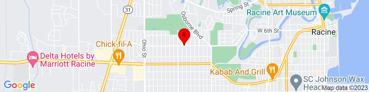 Google Map of 42.7225964, -87.8242698