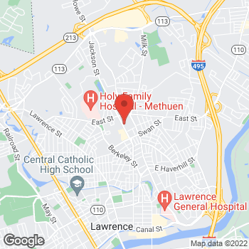 Map of Anthony Marino, MD at 99 Jackson Street, Methuen, MA 01844