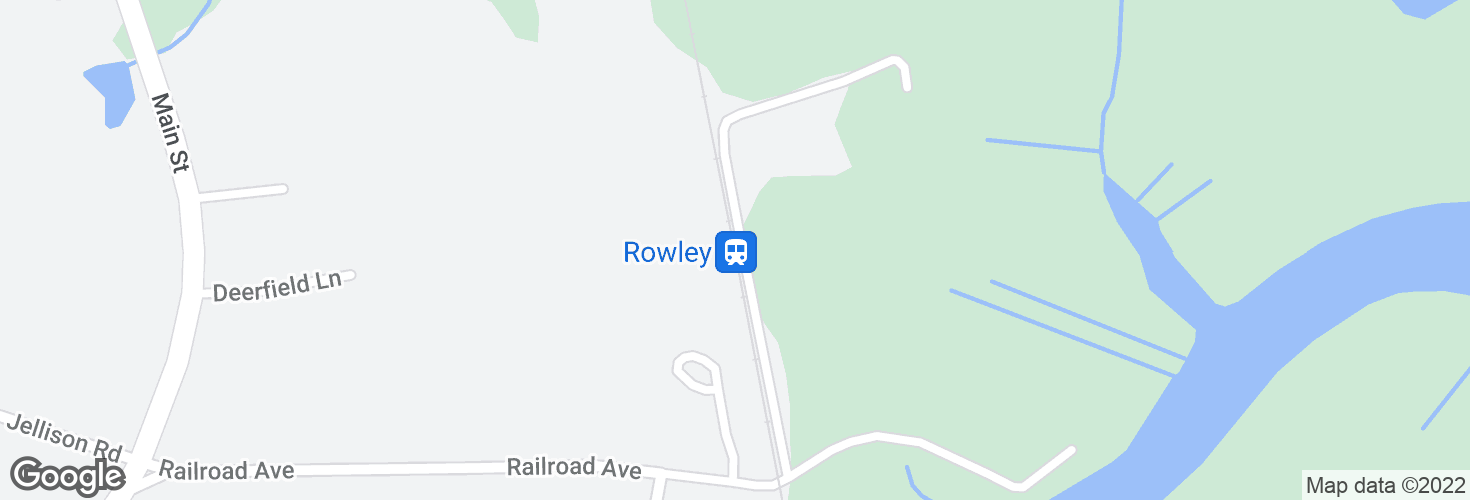 Map of Rowley and surrounding area