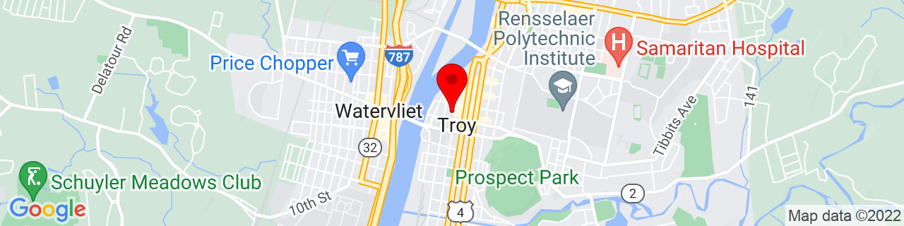 Google Map of 42.72949, -73.692301