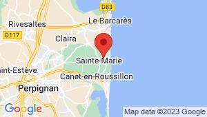 Carte de localisation du centre de contrôle technique SAINTE MARIE LA MER