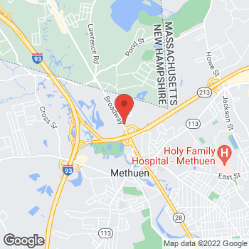 Map of Lawrence Lerman, DO at 413 Broadway, Methuen, MA 01844