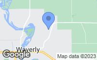 Map of Waverly, IA