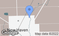 Map of New Haven, MI