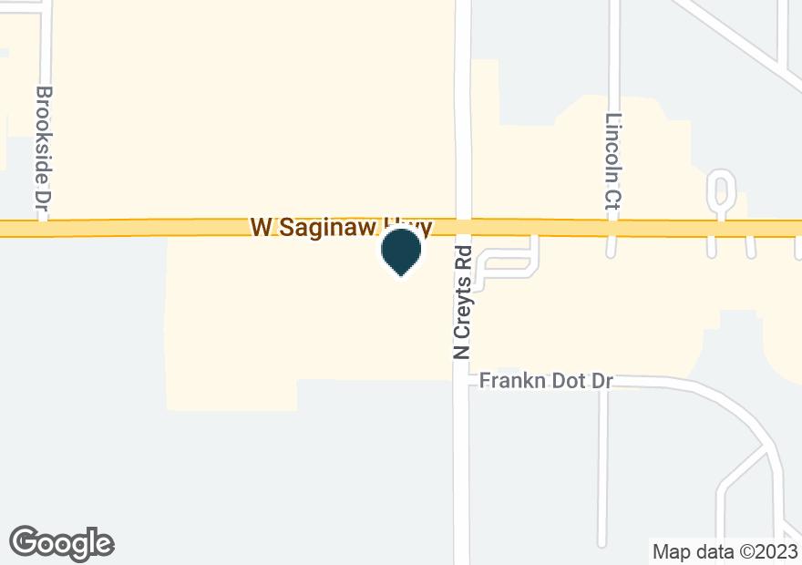 Google Map of6421 W SAGINAW HWY