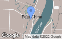 Map of East China, MI