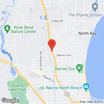 Map of Arby's at 3048 Douglas Ave, Racine, WI 53402-4102