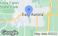 Map of East Aurora, NY
